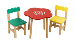 Kid's desk and chairs Royalty Free Stock Images