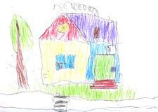 Kid's drawing Royalty Free Stock Images