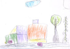 Kid's drawing Royalty Free Stock Photos