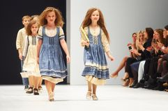 Kid`s fashion day during Belarus Fashion Week on October 29, 2017 in Minsk, Belarus. Royalty Free Stock Images