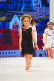 Kid`s fashion day during Belarus Fashion Week on October 29, 2017 in Minsk, Belarus. Royalty Free Stock Photo
