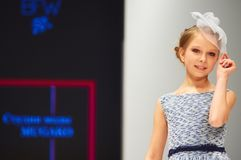 Kid`s fashion day during Belarus Fashion Week on October 29, 2017 in Minsk, Belarus. Stock Photo