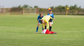 Kid's football Stock Images