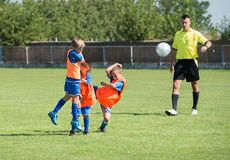 Kid's football Stock Photography