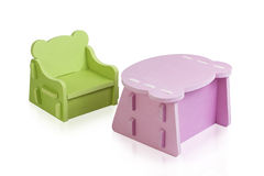 Kid's furniture  made of rubber foam Royalty Free Stock Images