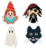 Kid's Halloween masks Royalty Free Stock Photo