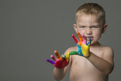 Kid s Hands Royalty Free Stock Photo