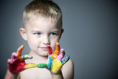 Kid s Hands Royalty Free Stock Photos