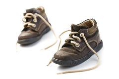 Kid's leather shoes Royalty Free Stock Image