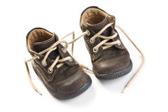 Kid's leather shoes Royalty Free Stock Photos
