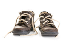 Kid's leather shoes Stock Image