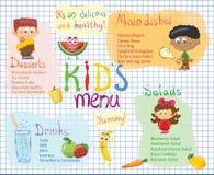 Kid& x27; s menu stock illustratie
