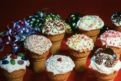 Kid`s Party Cones Stock Image