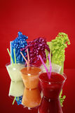 Kid's party smoothies and gift bags Royalty Free Stock Photos