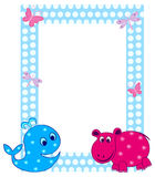 Kid's photo frame Royalty Free Stock Photos