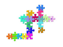 Kid's puzzle Royalty Free Stock Image