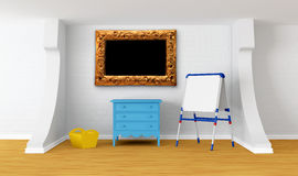 Kid's room with blackboard Stock Images