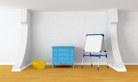 Kid's room with blackboard Royalty Free Stock Photography