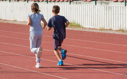 Kid's running Royalty Free Stock Photography