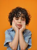 Hispanic child making a sad face Royalty Free Stock Image