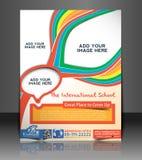 Kid's School Flyer Design Stock Photos