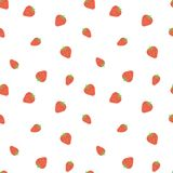 Kid`s seamless pattern. Smiling strawberry. Fruit fashion print. Cartoon berry. Design elements for baby textile or clothes. Hand. Drawn doodle repeating royalty free illustration