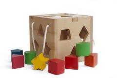 Kid's shape blocks Royalty Free Stock Images
