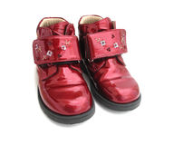 Kid's Shoes. A pair of a little girl's shoes royalty free stock image