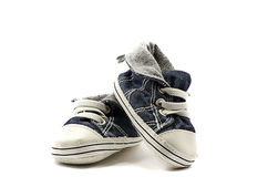 Kids shoes. Little kids shoes isolated on white Royalty Free Stock Photos