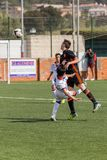 Kid`s soccer championship in Sant Antoni de Calonge in Spain Stock Photo