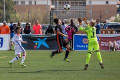 Kid`s soccer championship in Sant Antoni de Calonge in Spain Royalty Free Stock Photos