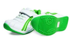 Kid`s sport shoes. Stock Photos