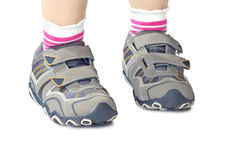 Kid`s sports shoes Royalty Free Stock Photo