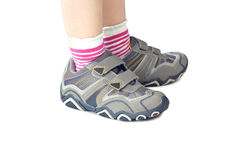 Kid`s sports shoes Stock Image
