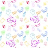 Kid's Staff  seamless pattern Royalty Free Stock Images