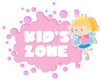 Kid& x27; s streek met meisje in feeuitrusting vector illustratie