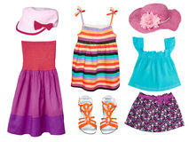 Kid's summer fashion clothes. Royalty Free Stock Photography