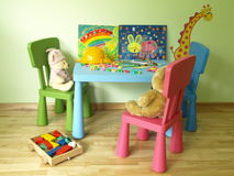 Kid's table Stock Photography