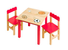 Kid's table set Stock Photo