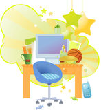 Kid's Working Table Stock Photo