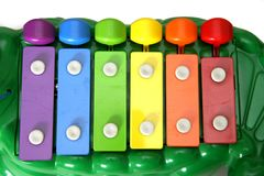 Kid's xylophone alligator Royalty Free Stock Photos