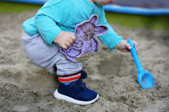 The kid in the sandbox. Royalty Free Stock Image