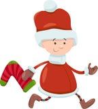 Kid santa claus christmas cartoon Stock Image