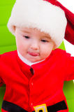 Kid in Santa Claus clothes Royalty Free Stock Images
