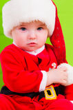 Kid in Santa Claus clothes Royalty Free Stock Image