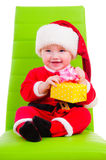 Kid in Santa Claus clothes Royalty Free Stock Photo