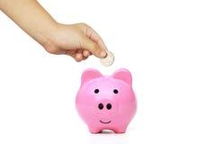 Kid saving money for future Stock Image