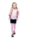 Kid with schoolbag Stock Photo