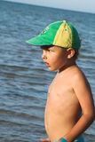 The kid and sea Royalty Free Stock Images