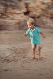 Kid on the sea Royalty Free Stock Images